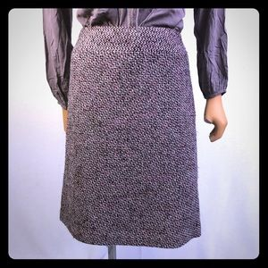 Loft Ann Taylor burgundy tweed skirt Sz M/L